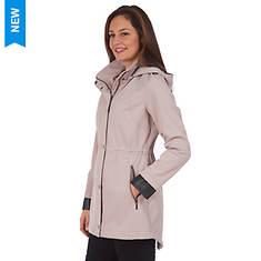 Fleet Street Women's Softshell Snap Button Anorak Jacket