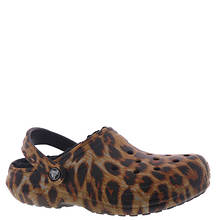 Crocs™ Classic Lined Animal Print Clog (Women's)