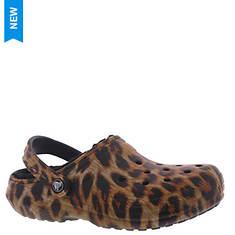 Crocs™ Classic Lined Animal Print Clog (Women's)