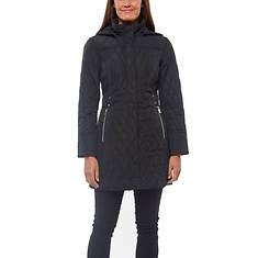 Jones New York Women's Hooded Diamond Quilt Jacket