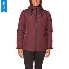 Details Women's Zip Front Hooded Reversible Jacket