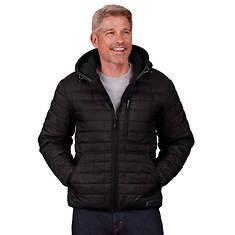 Free Country Men's Brick Puffer Jacket Sherpa Lining