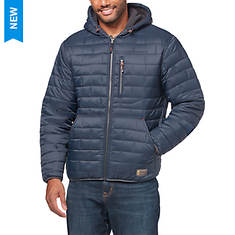 Free Country Men's Brick Puffer Jacket With Sherpa Lining