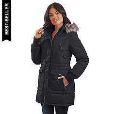 Free Country Women's Poly Air Touch Long Puffer Jacket