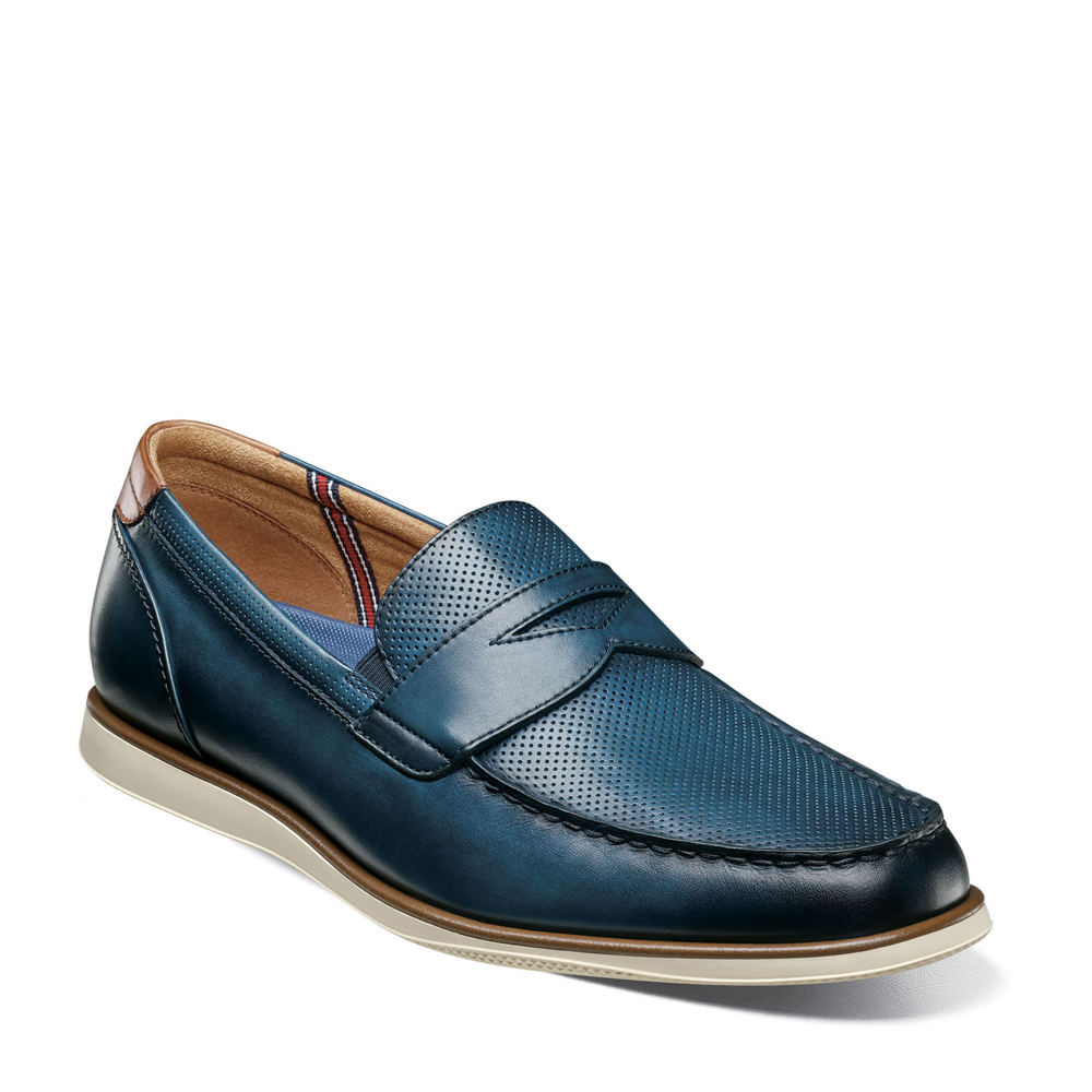 *Leather upper with micro-perforation detail *Slip-on styling *Lightly cushioned footbed *EVA outsole