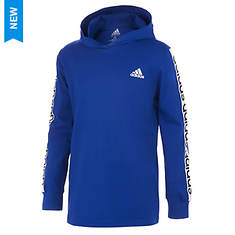adidas Boy's LS Linear Hooded Tee