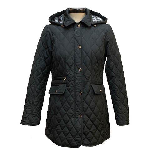 Jones New York Women's Hooded 30 Inch Quilted Jacket