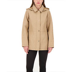 Jones New York Women's Hooded 28 Inch Quilted Jacket
