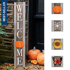 "44"" Welcome Porch Sign with Seasonal Décor"