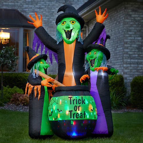 6' Inflatable Witches With Cauldron