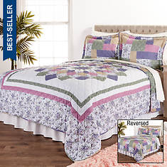 White Birch Reversible Patchwork Mini Quilt Set