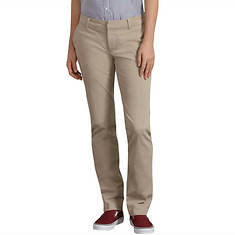 Dickies Women's Perfect Shape Straight Twill Pant
