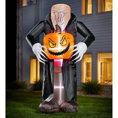 8' Inflatable Headless Pumpkin Man