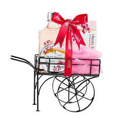 Freida and Joe Wheelbarrow Gift Set in Cherry Blossom
