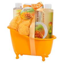 Freida and Joe Orange Tub Gift Set in Mango-Pear