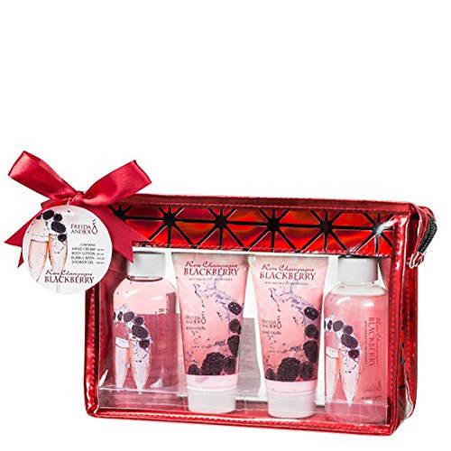 Freida and Joe Rose Champagne & Blackberry Travel Gift Set