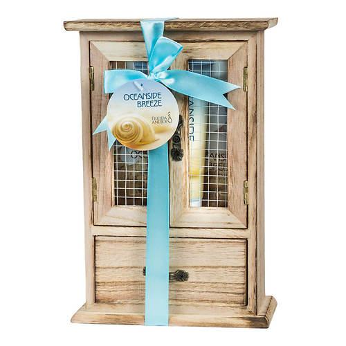 Freida and Joe Wood Curio Gift Set in Oceanside Breeze