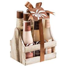 Freida and Joe Wood Caddy Gift Set in Tropical Coconut