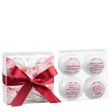 Freida and Joe Romantic Sensuous 4-Piece Bath Bombs Gift Set