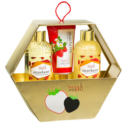 Freida and Joe Bath and Body Gift Set - Strawberry