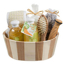 Freida and Joe Reflexology Massage Spa Basket in Fresh Cucumber Melon