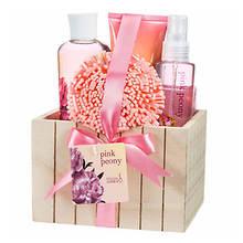 Freida and Joe Wood Box Gift Set in Pink Peony