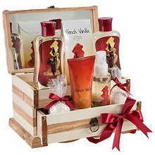 Freida and Joe Wooden Luxury Jewelry Box Gift Set in French Vanilla