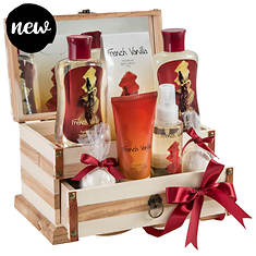 Freida and Joe Wooden Luxury Jewelry Box Gift Set in French Vanilla