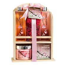 Freida and Joe Wood Curio Spa Gift Set in Cherry Blossom