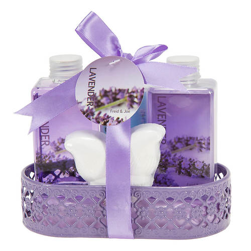 Freida and Joe Wire Basket Gift Set in Lavender