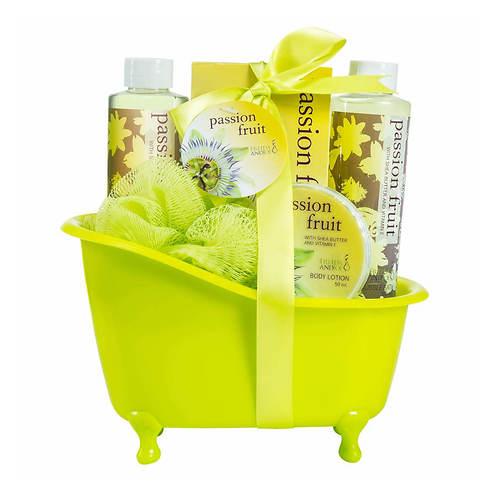 Freida and Joe Green Tub Gift Set in Passion Fruit