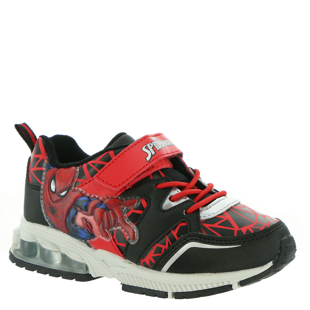 *Synthetic upper with Spider-Man graphics *Hook-and-loop closure with elastic laces *Synthetic lining *Lightly cushioned footbed *Textured outsole *Available in whole sizes only half sizes please order the next size up