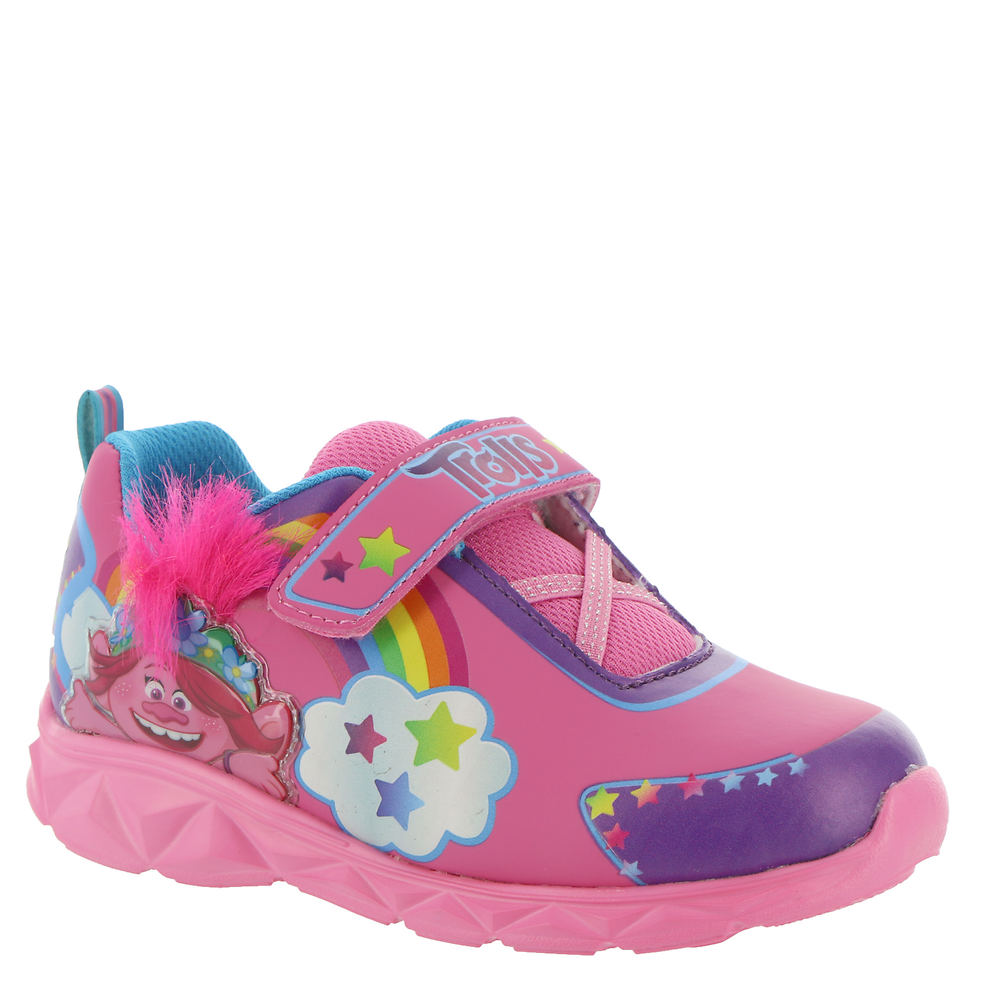 *Synthetic upper with Trolls graphics *Hook-and-loop closure with elastic laces *Synthetic lining *Lightly cushioned footbed *Light-up midsole *Textured outsole *Available in whole sizes only half sizes please order the next size up