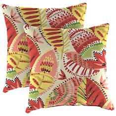 """16""""x16"""" Wicker Pillow Set"""