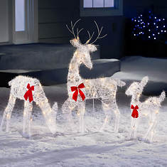 Tinsel Reindeer Family
