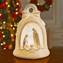 Lighted Porcelain Nativity Set