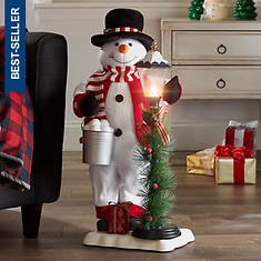 """28"""" Animated Musical Snowman with Lamp"""