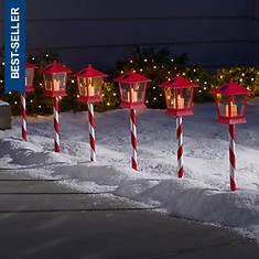 6-pk Solar Lantern Stake Lights
