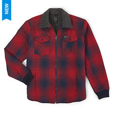 Wrangler Men's Sherpa Lined Flannel Shirt Jacket