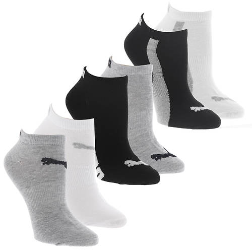PUMA Women's P115235 Low Cut 6 Pack Socks