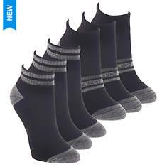 Skechers Women's S115333 Quarter Crew 6 Pack Socks