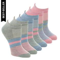 Skechers Women's S115334 Low Cut 6 Pack Socks