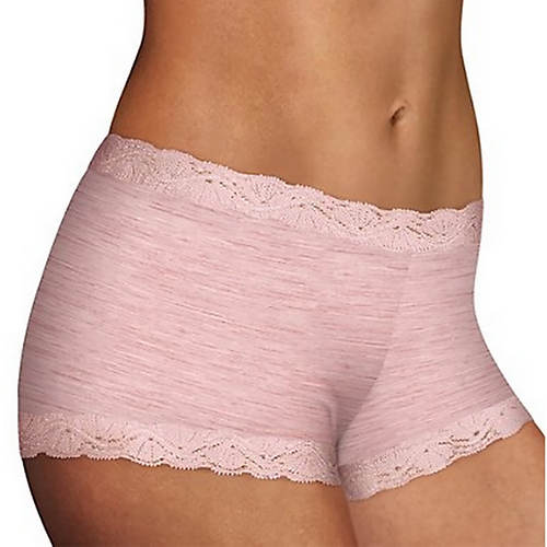 Maidenform®  Classics Microfiber Boy Short With Lace