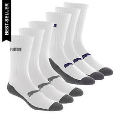 PUMA Men's P114378 Crew 6-Pack Socks