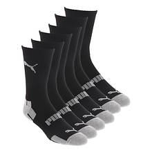 PUMA Men's P114388 Crew 6 Pack Socks