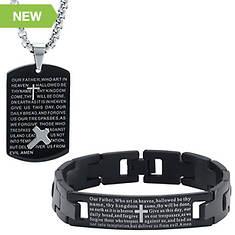 Prayer Pendant/Bracelet Set