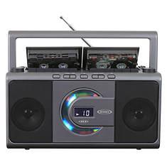 Jensen CD/Dual Cassette Deck Recorder