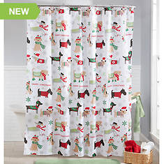 13-Piece Holiday Shower Curtain Set