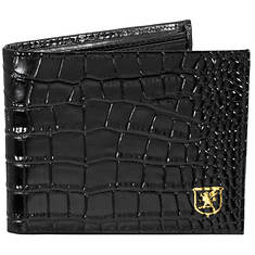 Stacy Adams Men's Smith Leather Croc Bifold
