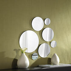 7-Piece Round Mirrors Set